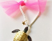 Sea Turtle Necklace Nautical Rope Jewelry Animal Necklace Kids Necklace turtle Necklace Beachy Jewelry for kids