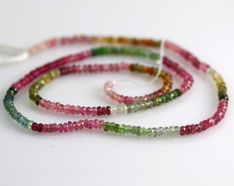 Watermelon Tourmaline Beads - 2 mm - Tourmaline Beads - AAA+