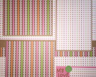 MY LOVE 12 x 12 premade scrapbook layout - Love Girl