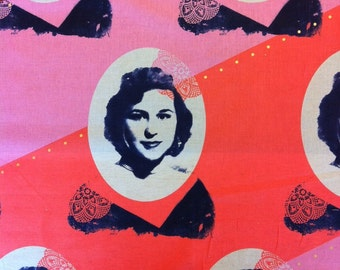 Kokka Melody Miller Ruby Star Polka Dot Portraits - Half Yard