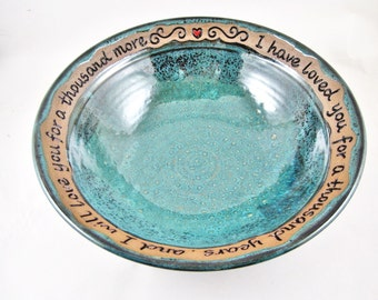 Pottery Wedding Gift - 9th Anniversary, Commitment Ceremony, fruit bowl - IN STOCK WB081M