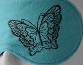 Turquoise Butterfly Travel, Sleep, Eye Mask ~ Light Blocking ~ Less than Perfect