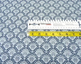 Cotton fabric • light denim • ornaments •  0.54yd (0.5m) 002542