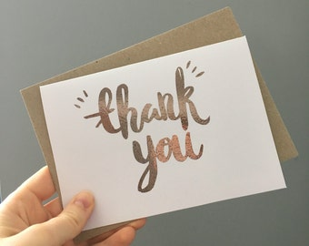 Foiled Thank You Card