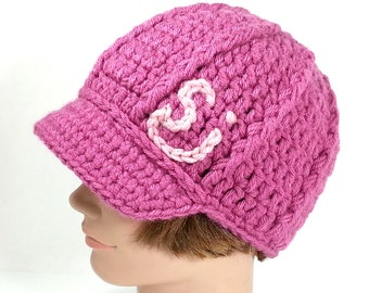 Pink Beanie with Visor inspired by The String Cheese Incident, ON SALE - MED