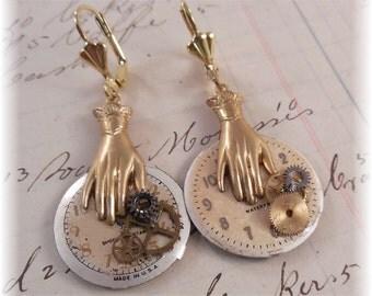 Earrings Steampunk, Clock faces