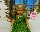 Candy Cane Dreams - Christmas nightgown for American Girl **Sale**