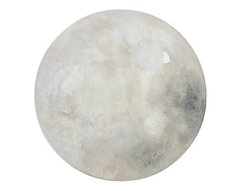 Luna 22 - Archival 8x8 Print - Contemporary Minimalist Watercolor Painting - Astronomy, Moon Art - by Natasha Newton