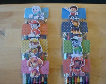 Paw Patrol Made To Order Crayon Favor Bags