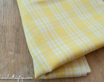 Mad About Plaid - Vintage Fabric Sweet Yellow Pastel
