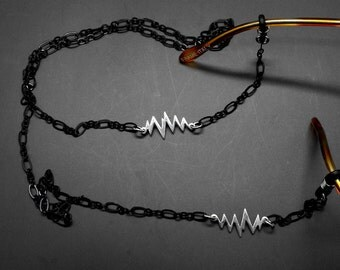 Doctor Glasses Chain Nurse Heart Beat Heartline Medical Healthcare Worker Eyeglass Holder Eye Glass Lanyard