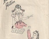 RARE 40s Advance 4034 Girl's Blouse Sewing Pattern Size 2
