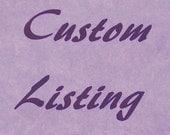Custom Listing for Giorgia Nalato Only