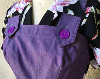 Darling 1940s style Rosie overalls  Medium only Purple cotton twill