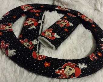 Minnie Mouse *  Steering Wheel Cover * Seat Belt
