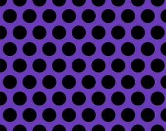 Purple with black big dots 1 yard