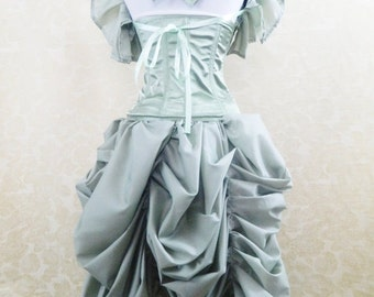 Bank Holiday Flash Sale Sage Green Tabitha Knee Length Bustle Skirt-One Size Fits All