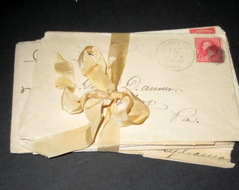 Packet of 16 Vintage Envelopes with Cancelled 2 Cent stamps