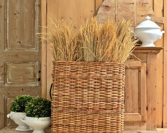 Lovely Vintage Artillery Basket......Perfect French Country Decor