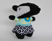 A Lady Badger //  Handmade plush doll // She also can be hung on the wall as decor