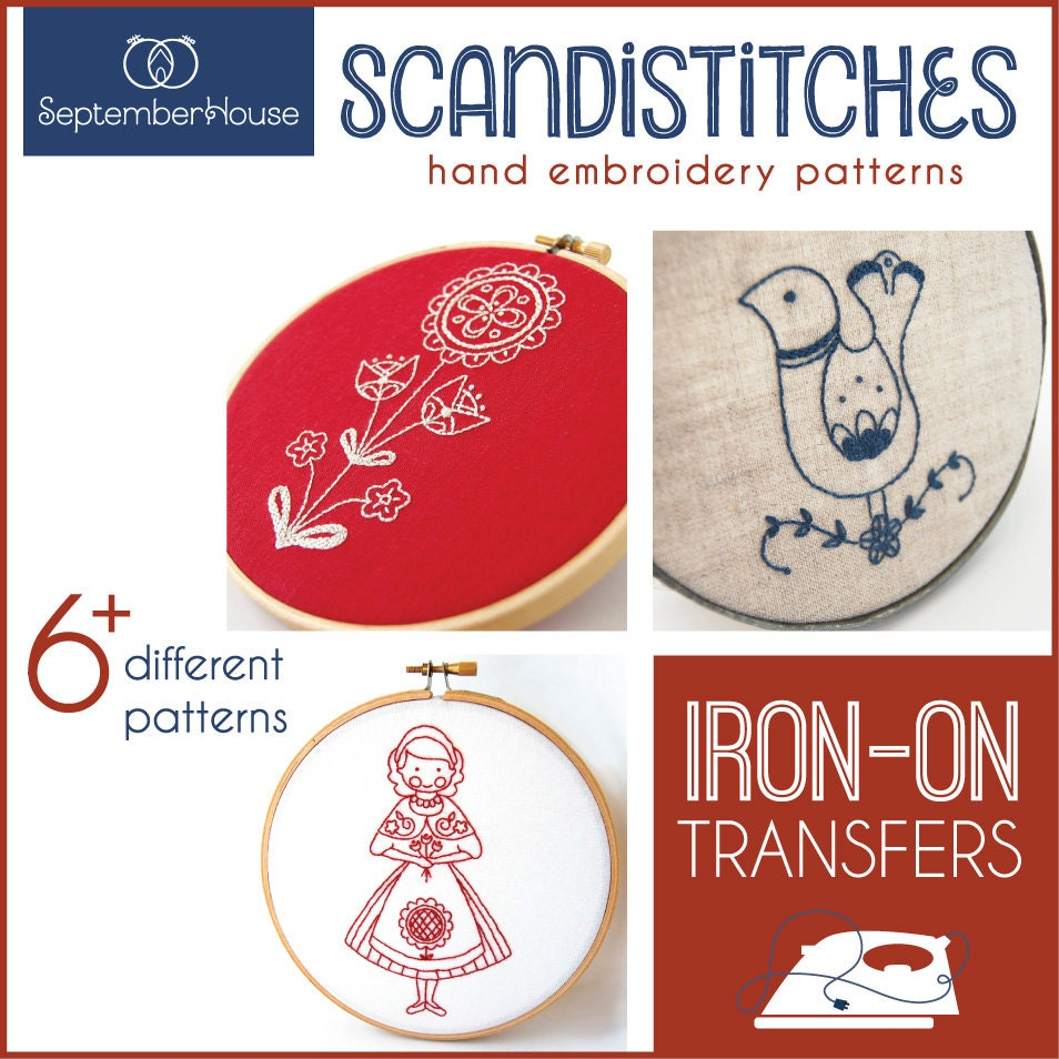 Embroidery patterns iron on transfers scandistitches