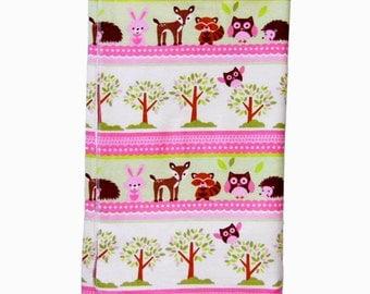 Deer Baby Blanket - Woodland - Mini Blanket - Baby Blanket - Baby Girl Blanket - Flannel Blanket - Nursery Blanket - Receiving Blanket -