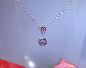 Swarovski Crystal Necklace - Silver Filled Necklace - Shown with Comet Argent - Available with Swarovski Crystal Colors