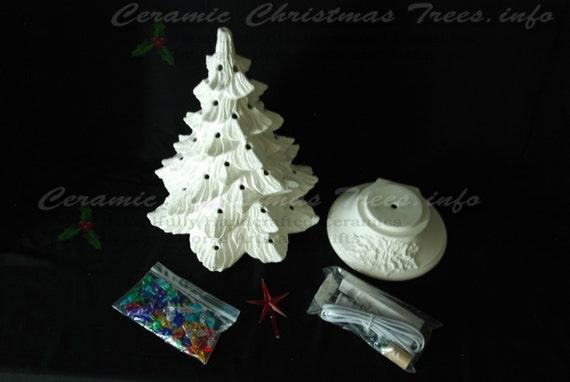 Ready To Paint Ceramic Christmas Tree Kit W/ Music Box 16
