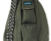 Monogrammed Kavu Rope Bags- Military Green