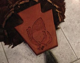 MOUNTED TURKEY FEATHER Fan, Pa Turkey Feathers,Wood Mounted Turkey Fan with Beard,Wall Decor,Turkey Feathers with Beard,ThanksgivingDecor