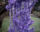 Handspun Tailspun Curly Leicester Longwool Locks in Violet Purple Art Yarn or Boa by KnoxFarmFiber for Knitting Weaving Embellishment