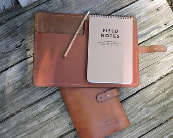Leather Field Notes Cover / Handcrafted / Gregg Ruled Paper / Field Note Holder / Field Notes / Leather Journal