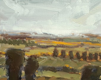 Layers of Land | Oil Painting Original Painting Landscape Painting | 4.25 x 4.25