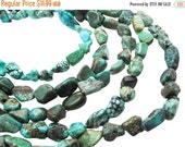 SALE Turquoise Nugget, Turquoise Beads, Blue Turquoise, December Birthstone, SKU 5145A