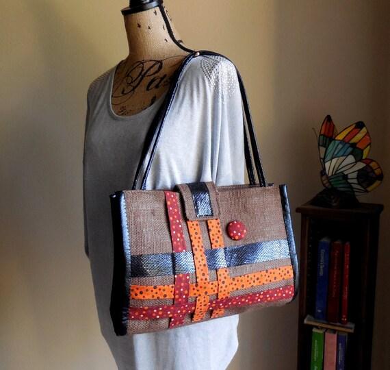Modern Style Handbag..Shoulder Bag..Chocolate Fun...Original Design...Purse...