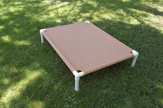 Items similar to mesh dog bed pvc pipe frame cot outdoor for Pvc cat bed