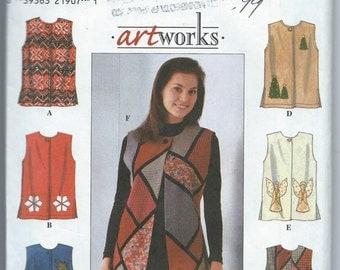 Simplicity 8228 Misses' Vest - Size L-XL - Uncut Pattern