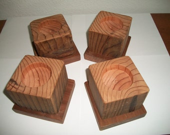 Set Of 4 Large Bed Risers Furniture Blocks Leg By