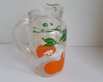 anchor hocking orange juice pitcher