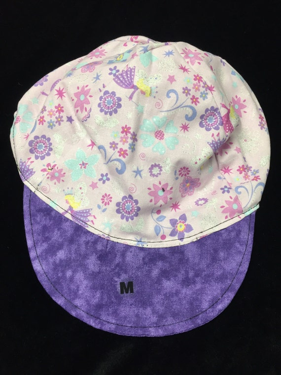 Reversible Fairy baseball hat sizes newborn to adult too
