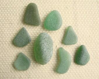 8 Deep Blue Green Large Pendant Seaglass Gems (SG1832) Mediterranean Sea glass, Rich Blue Green Beach Glass