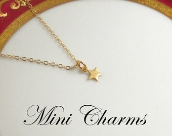 Mini Star Necklace,  Gold Star Charm, Gold Chain Necklace, Tiny Star Necklace, Star Jewelry, Simple Jewelry, Dainty Necklace, Jewelry Gift