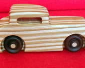 Ford Coupe wooden car, Hot Rod Race Car, Antique Wooden Car, Handmade Childrens Toy, Handmade Toddler Toy, Boys Gift, Childs Toy