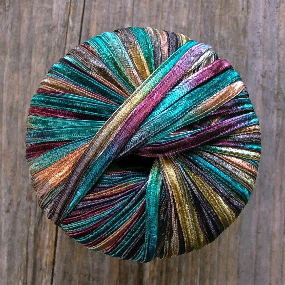 Italian Ribbon Yarn . Timberland . Berlini Memento Ribbon Yarn