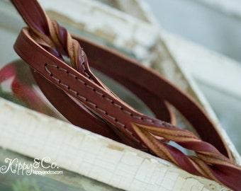 Leather Leash //  Latigo Leather Leash // Leather Dog Leash // Dog Leash // Sturdy Leash //  1 inch leather leash // Soft Leather Leash