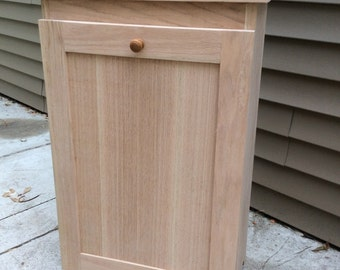 Oak Trash Bin/ Recycling Bin  Unfinished no STAIN or FINISH