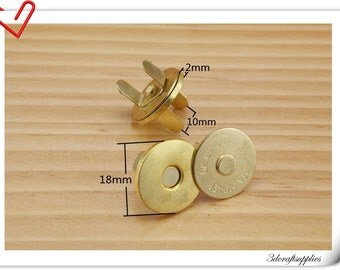 20 set per bag of 18mm golden Magnetic Snaps Magnetic Fastener F30