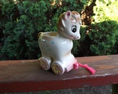 FREE SHIPPING vintage horse pony baby planter (Vault C)
