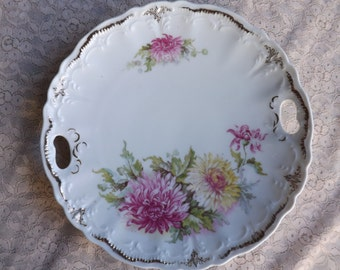 FREE SHIPPING vintage handled plate marked Germany (Vault B3)
