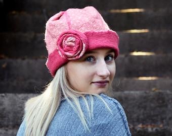 Felt Hat,Felted wool hats,Womens winter hats,Felt hat for women,unique felt hat,Felt hats,Women's wool hat, Unique Gift, Felted Hat, Art Hat